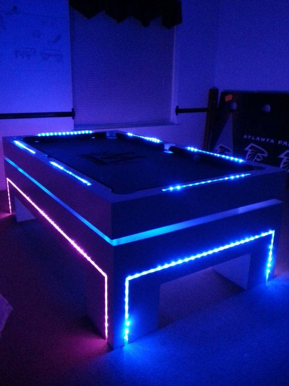 7FT Pool Table Glow's in the Dark  by McCorkleDesigns on Etsy