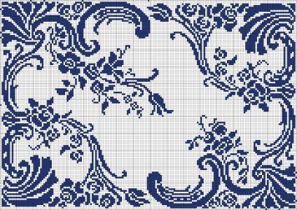 Doily 15   Chart for filet crochet