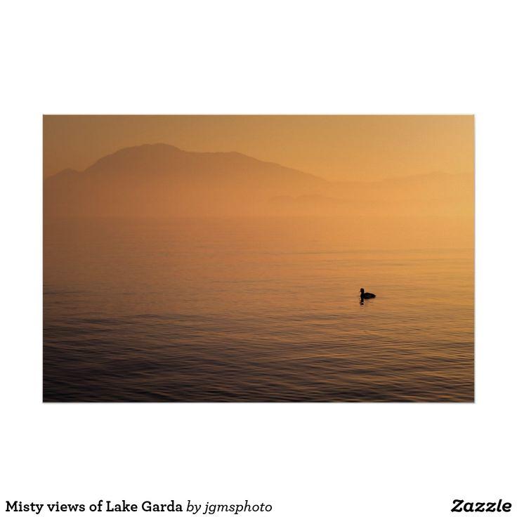 Póster Misty views of Lake Garda
