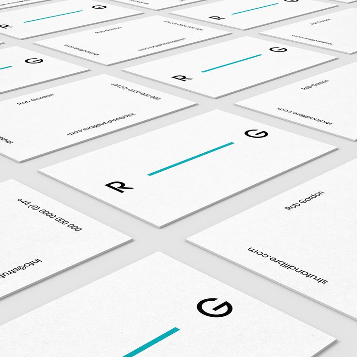 Gordon – one of our Contemporary business card templates available to customise and order on our site.
