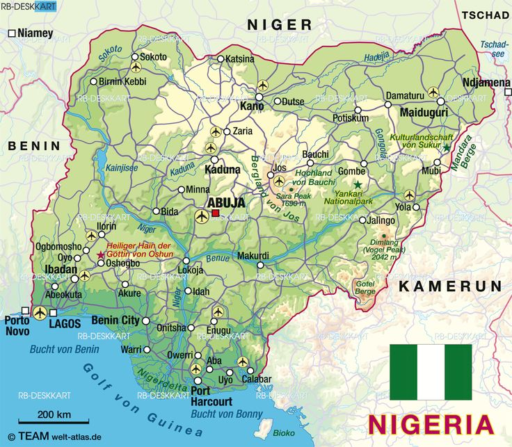 Lagos City Map Map Of Nigeria Map In The Atlas Of The World - Nigeria map