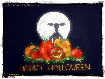 Happy Halloween Cross Stitch Chart - Freebie!