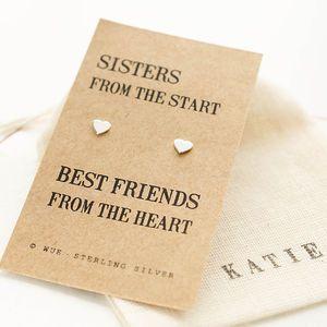 Sister Gift Silver Earrings - earrings