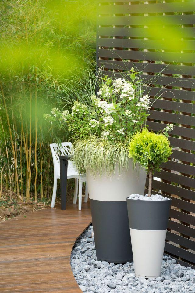 1000 id es propos de jardin contemporain sur pinterest for Idee amenagement jardin contemporain