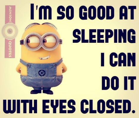 11 Funny Sleep Quotes - Minion