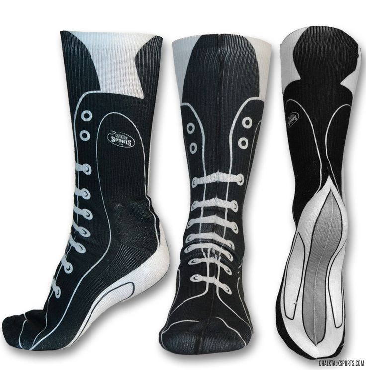 How awesome are these Hockey Skate socks?
