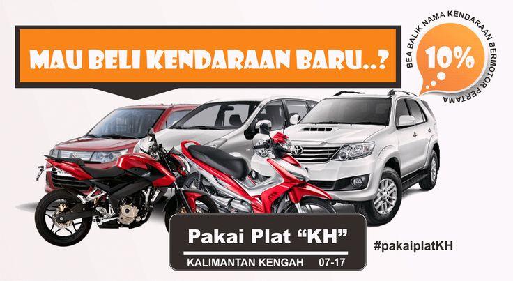 Pengurangan Bea Balik Nama Kendaraan Bermotor dari 15% menjadi 10%, Pergub Kalimantan tengah No. 16 Tahun 2016 berlaku selama satu tahun dengan menggunakan plat kendaraan KH.
