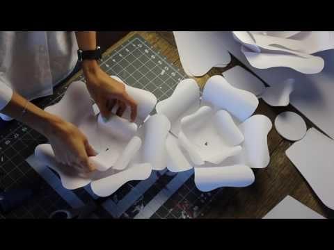 DIY project: Большие декоративные ЦВЕТЫ из БУМАГИ своими руками
