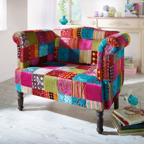 Sofa Carlson, Patchwork Design  #miavilla #cool #originell #kurios #couch #patchwork