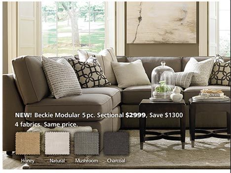 Beckie L Shaped Sectional By Bassett Furniture A Transitional Modular With Endless Possibilities