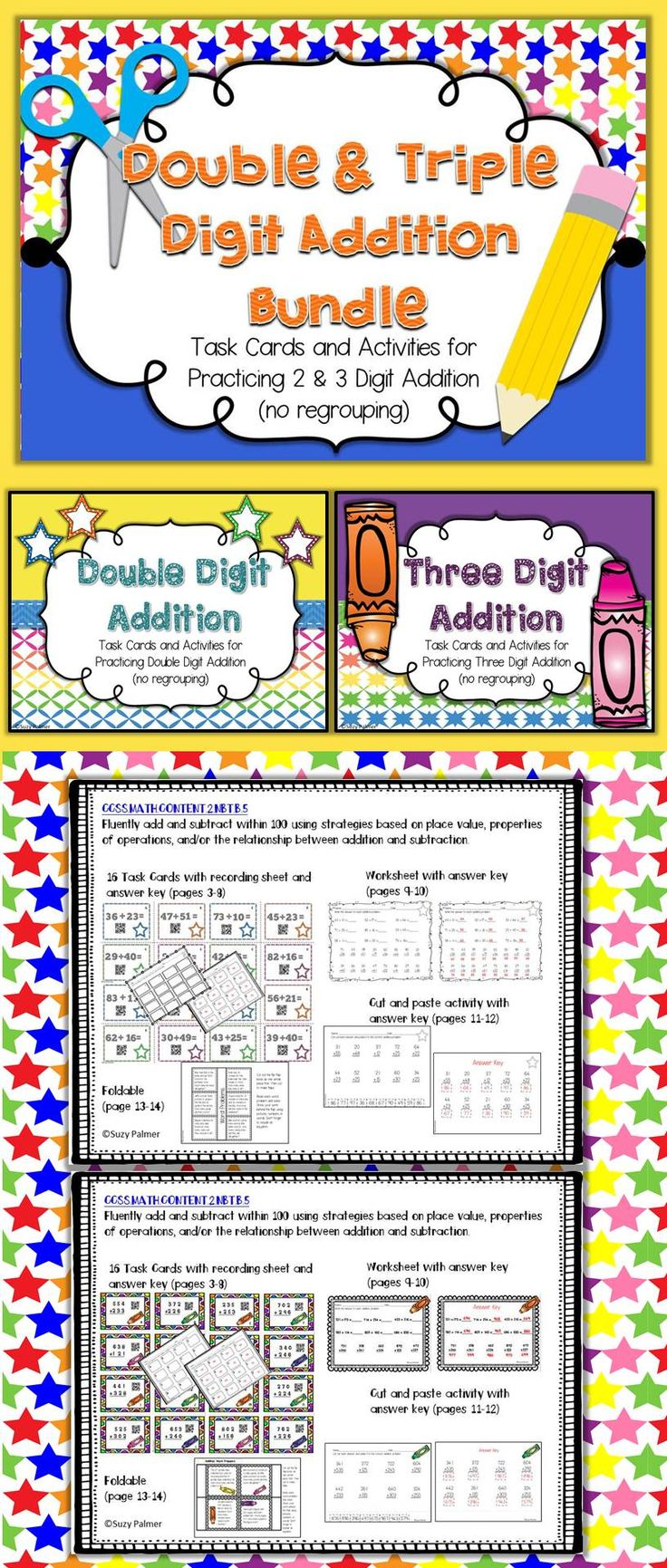 Double And Triple Digit Addition No Regrouping
