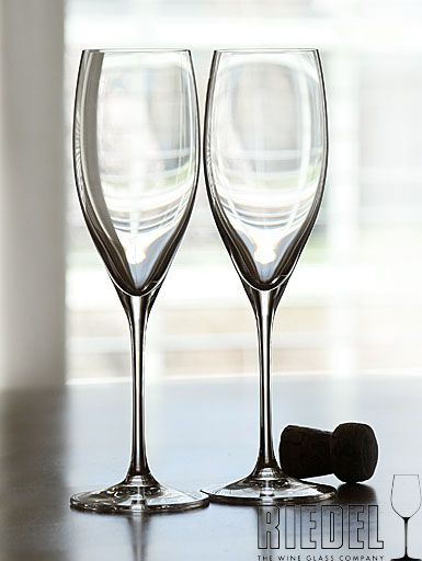 Riedel glasses are always beautiful and functional