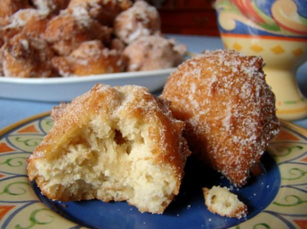 Applesauce Drop Doughnuts from Food.com: Quick & easy to make. You can have the batter whipped up in the amount of time it takes for the oil to heat. (I use a Fry Daddy.) We actually like them better after they sit for 5-6 hours rather than warm like most doughnuts I make.