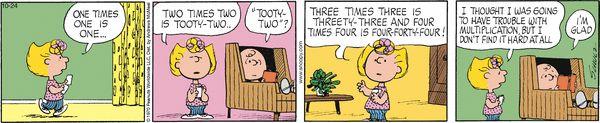Math multiplication - Peanuts for 10/24/2017