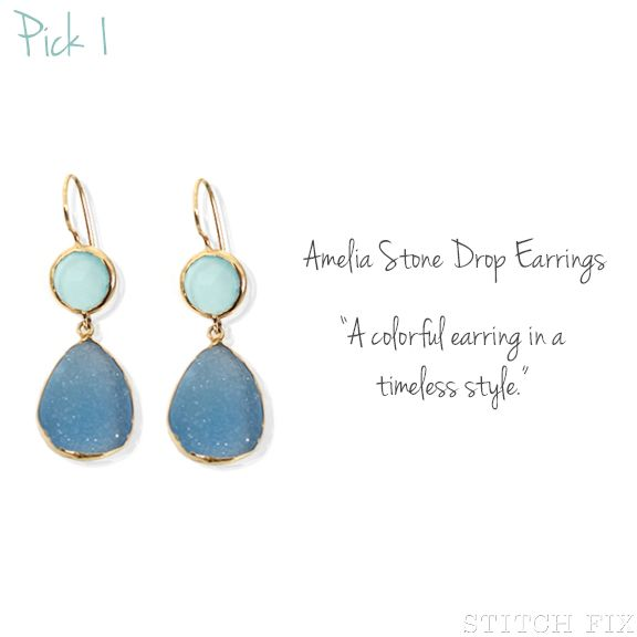 Ameilia Stone Drop Earrings via Stitch Fix
