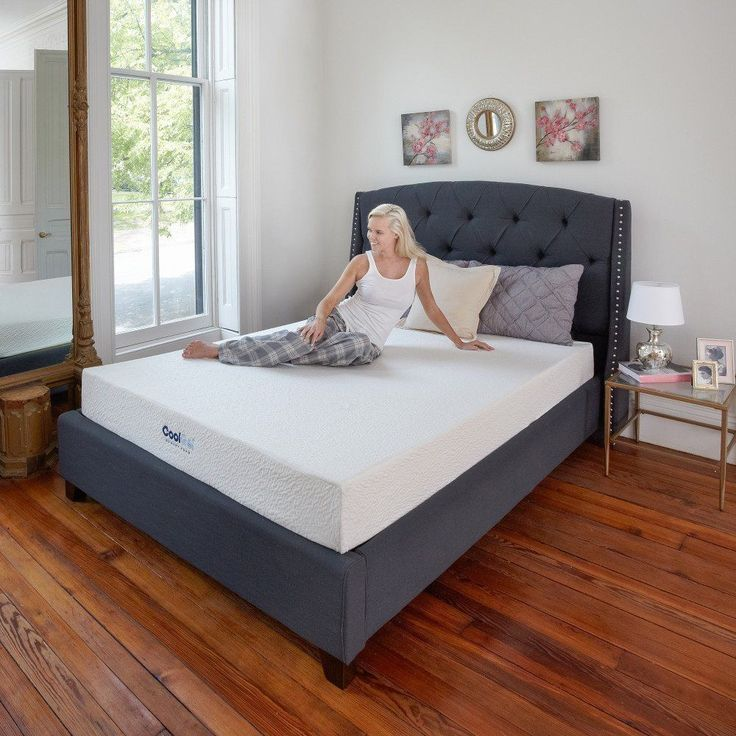 """ICYMI: 8"""" Gel-Infused Memory Foam Mattress Queen Size for Adjustable Bed Frames Kits"""