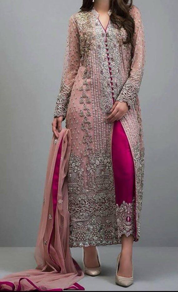 Ladies wedding outfit party Wear Pakistani Indian Heavy