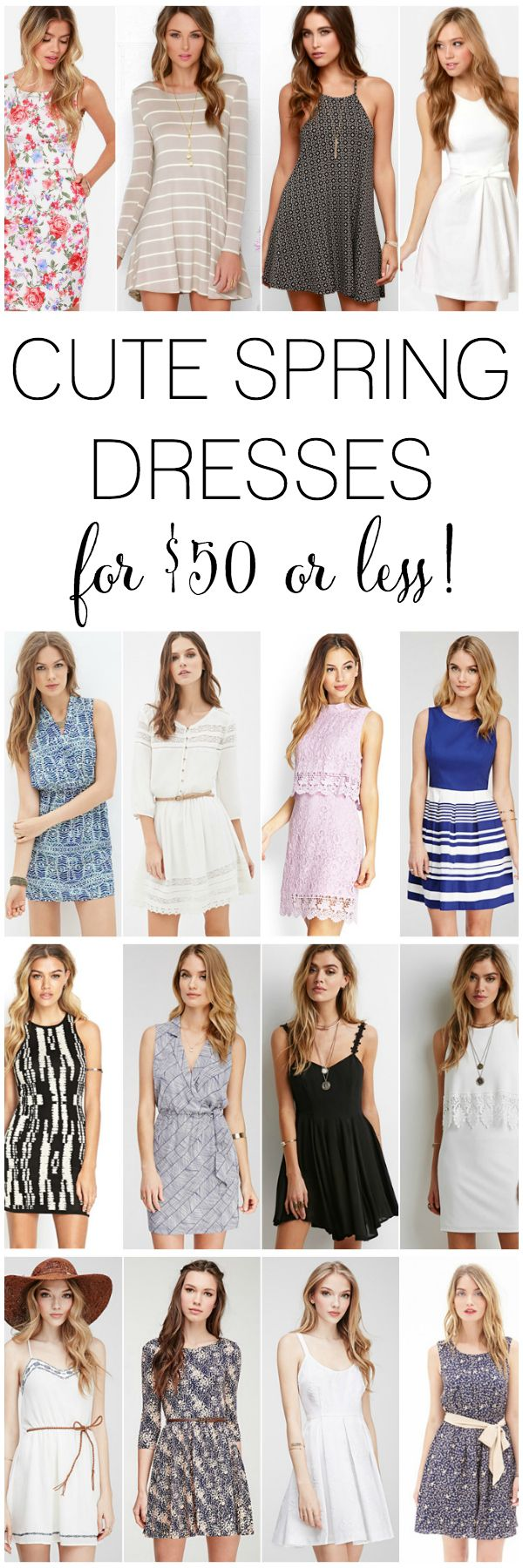 The cutest dresses for spring - all under $50!