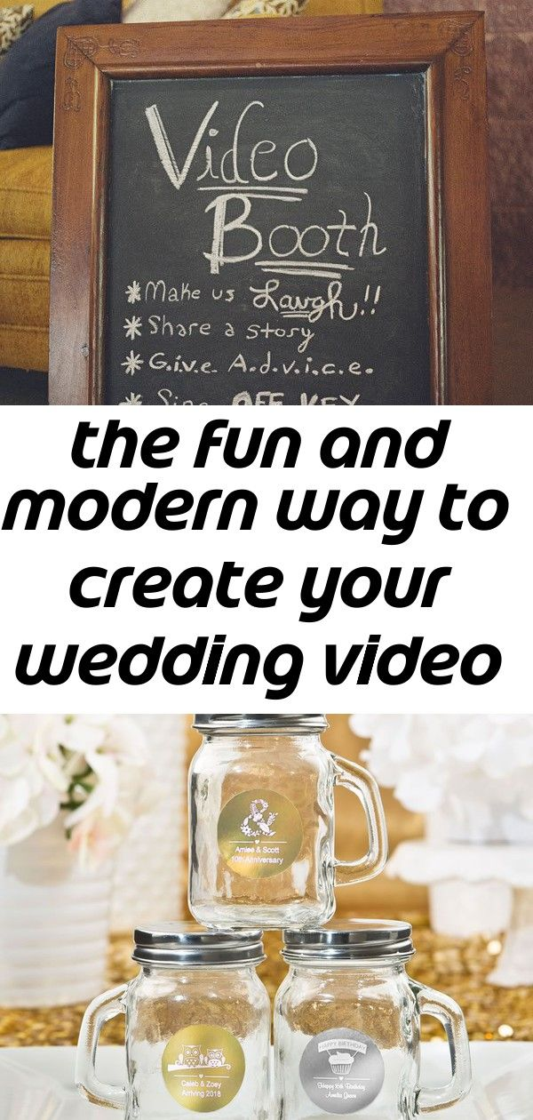 The Fun And Modern Way To Create Your Wedding Video 6 Diy Projects To Sell Diy Projects For Kids Diy Wedding Projects
