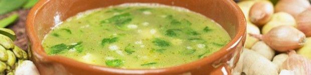 Zupa szpinakowa z mięsem