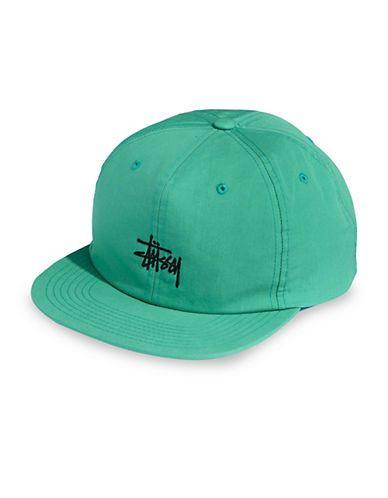 0c4aad3f8cb STUSSY STUSSY SATURN COTTON BASEBALL CAP-TEAL.  stussy