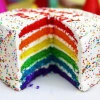 RESEP RAINBOW CAKE - Resep Kue Basah | Hobi Masak