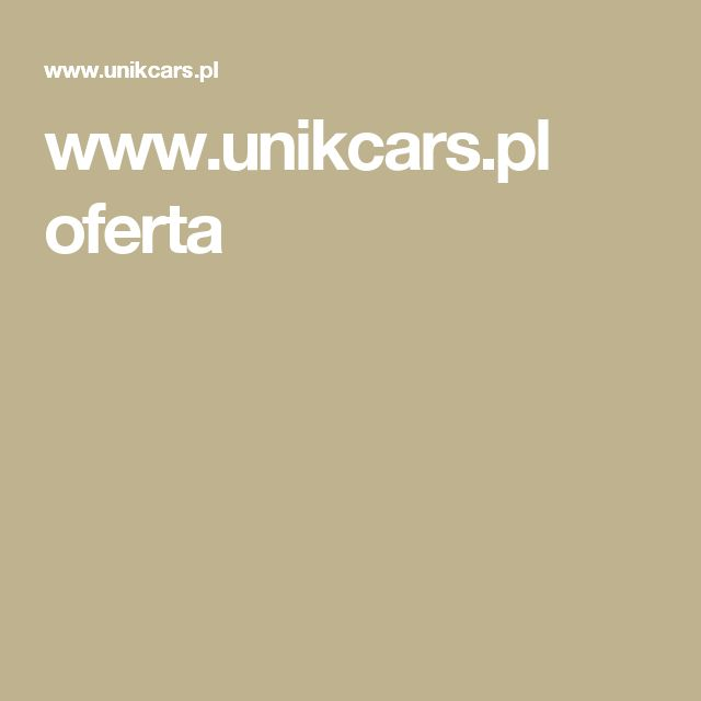 www.unikcars.pl oferta