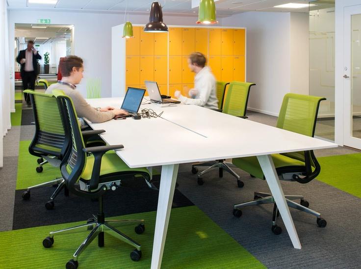 Microsoft HQ, Sweden   Ragnars #burmatex #lateralcarpettiles #carpettiles