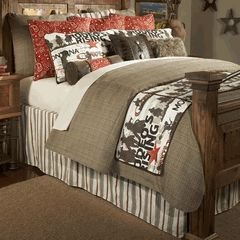 Cowboy Rodeo Bedding Collection - Western Decor ...like the colors and possible bed idea with old door and posts..