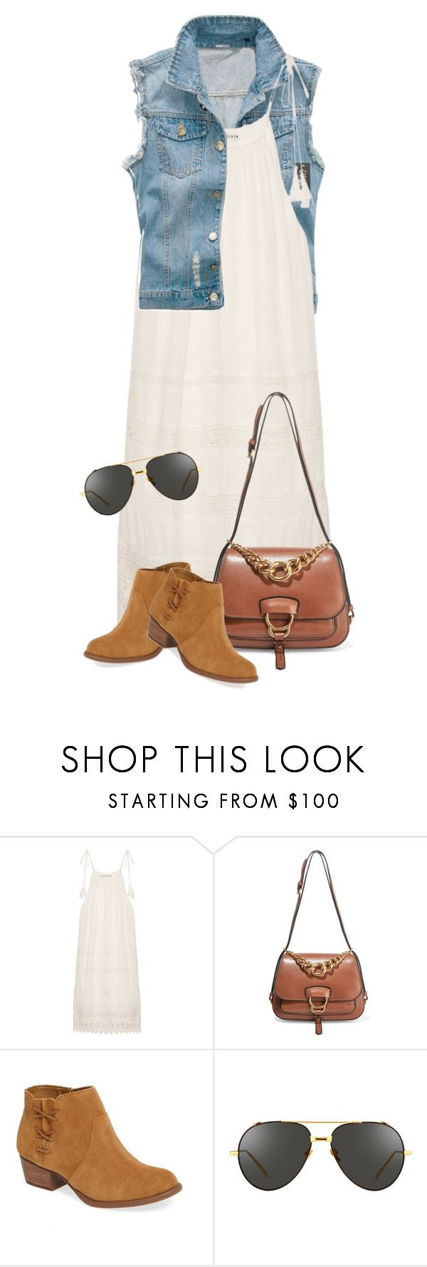"""""""Oh the Ivory"""" by indirareeves on Polyvore featuring Alice + Olivia, Miu Miu, Jessica Simpson and Linda Farrow"""