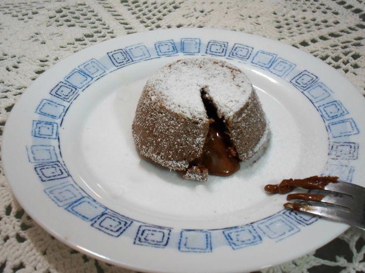 Tortini con il cuore caldo di cioccolata! Una bontà!