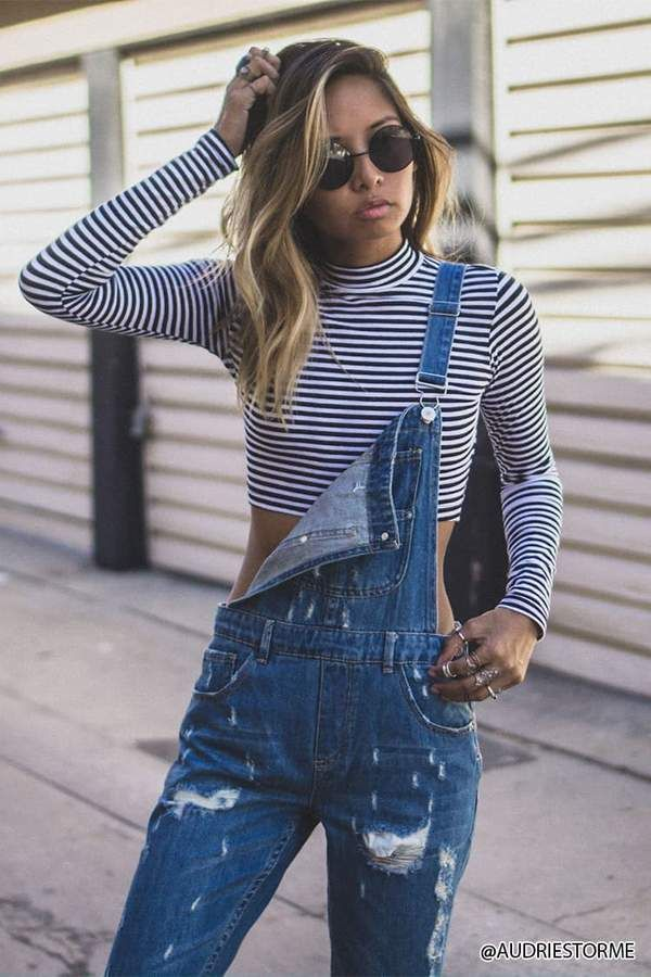 ef67a500fcc9 FOREVER 21 Distressed Denim Overalls  Affiliate  teen fashion style  vacation beach college summer + spring womens outfits casual romper first  day school ...
