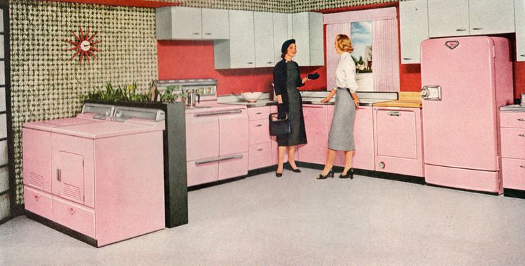 1950s kitchens | 1950s Kitchen that's Pink: