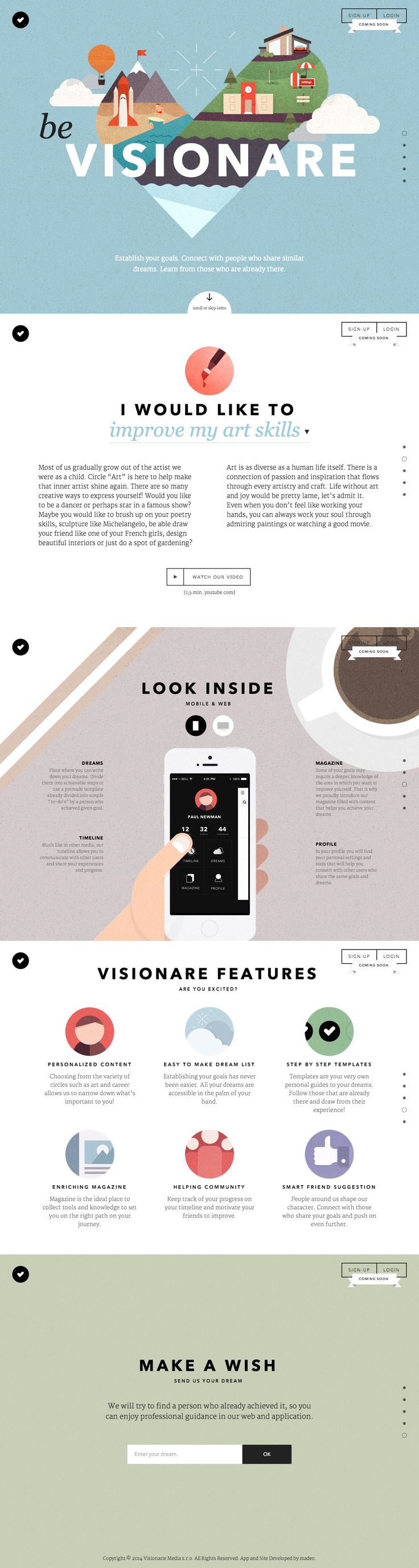 Be Visionare - http://www.bevisionare.com - #webdesign #illustration #animation Get Free Domain on http://cp.cx