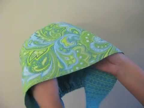 Scrub Cap Printable Pattern and How To DIY Tutorial - YouTube