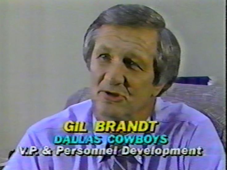 "Vice-President GIL BRANDT interviewed on ""The NFL Today"" on November 26, 1981"