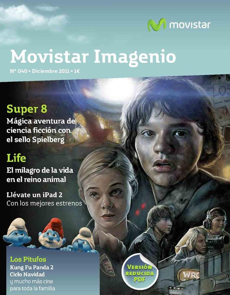 Portada de la Revista Movistar Imagenio en su adaptación PDF de la publicación impresa.