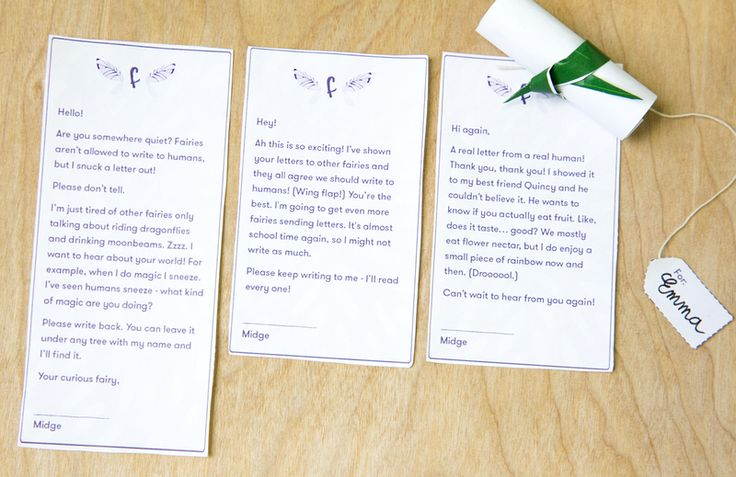 Image of fairy letters