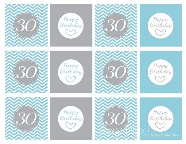 30th Birthday Printables: