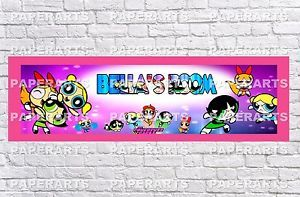 Personalized Powerpuff Girls Name Poster with Color Border Mat Art Wall Banner | eBay