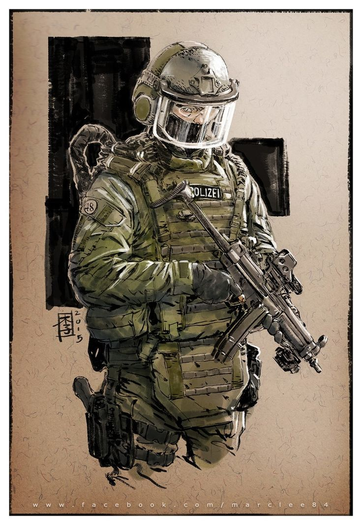 """""""So, I said to Hans: What are you sinking about?""""  Gotta love those awesome ballistic-visor helms... and the MP5 is such an iconic weapon, I never tire of seeing it."""