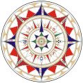 Compass rose - Wikipedia, the free encyclopedia More ornate compass rose, with letters of traditional winds and compass needle as north mark, from a nautical chart by Jorge de Aguiar (1492)