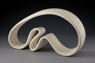 Abstract ceramic sculptures, ribbon sculptures, pure clay sculptures - Cri Kars-Marshall