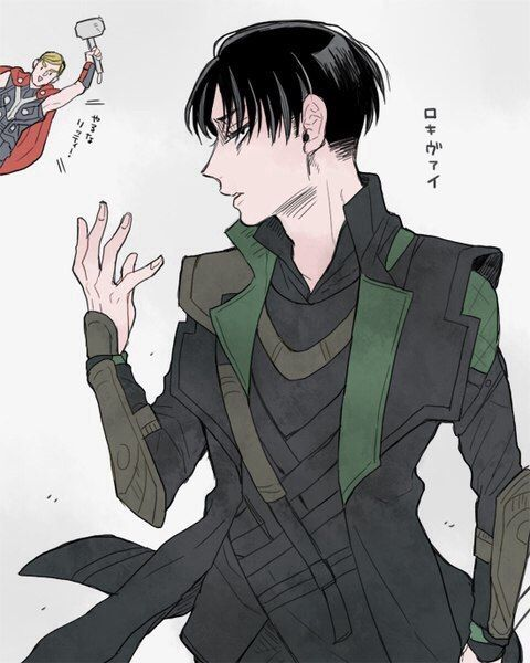 Attack on Titan/ Shingeki no Kyojin Levi as Loki and Erwin as Thor