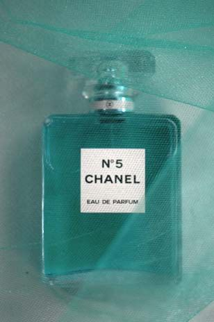 Turquoise Chanel No. 5 Photograph titled A Blur -- Limited Editions in various sizes