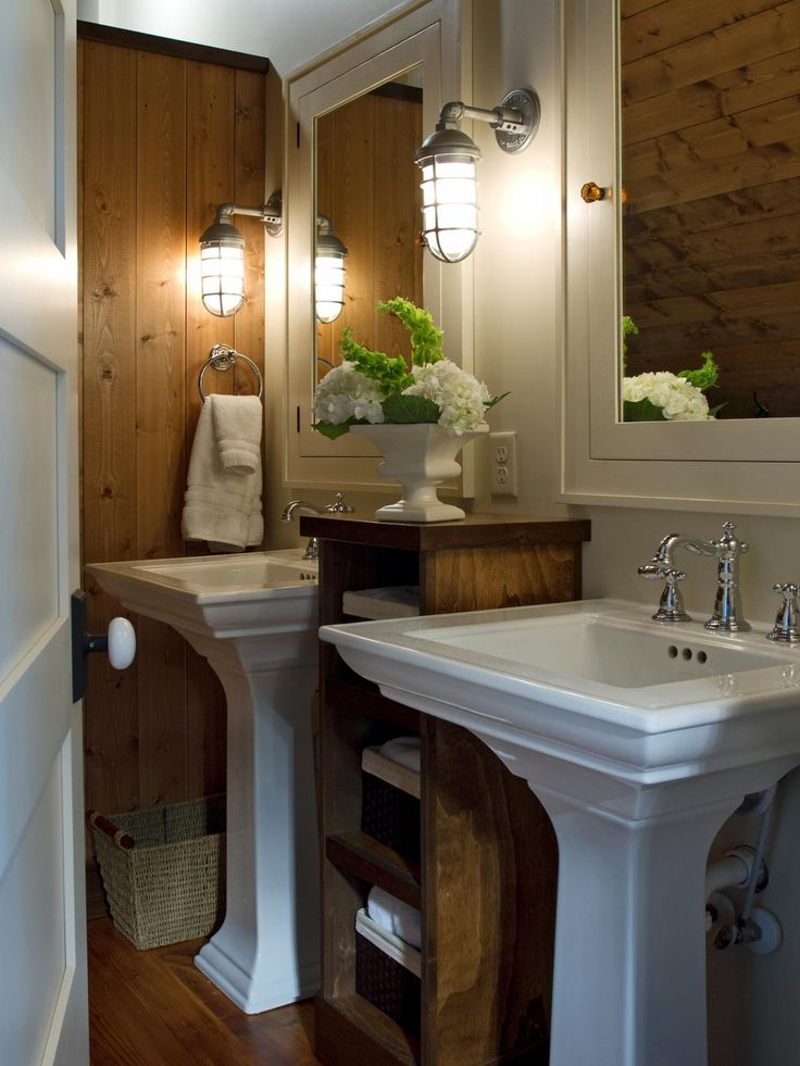 Splurge Or Save 16 Gorgeous Bath Updates For Any Budget Open Shelving Pedestal And Pedestal Sink
