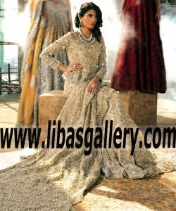 Beautiful Bridal Peplum with Lehenga Dress features Charming Embellishments for Valima and Special Occasions - A beautifully balanced blend of the romantic and whimsical showcasing eternal elegance. #SanaSafinazBridals define supreme serenity. shop styles from www.libasgallery.com #UK #USA #Canada #Australia #France #Germany #SaudiArabia #Bahrain #Kuwait #Norway #Sweden #NewZealand #Austria #Switzerland #Denmark #Ireland #Mauritius #Netherland  #Peplum #BridalLehenga #WeddingLengha