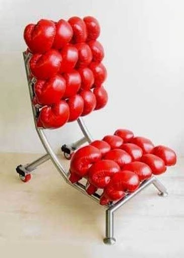 boxing glove chair. because.