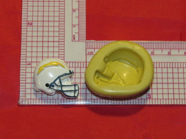 NFL Football San Diego Chargers Helmet Silicone Push Mold 407 Chocolate Candy Cake Decorating by LobsterTailMolds on Etsy