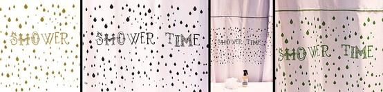 shower time... impresas en color arena, negro o verde